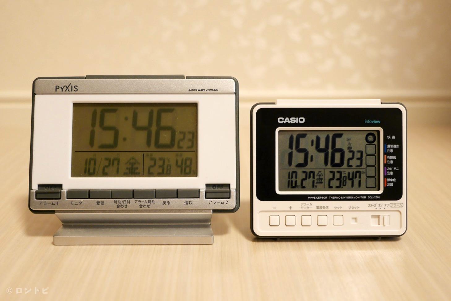 目覚まし時計 サイズ