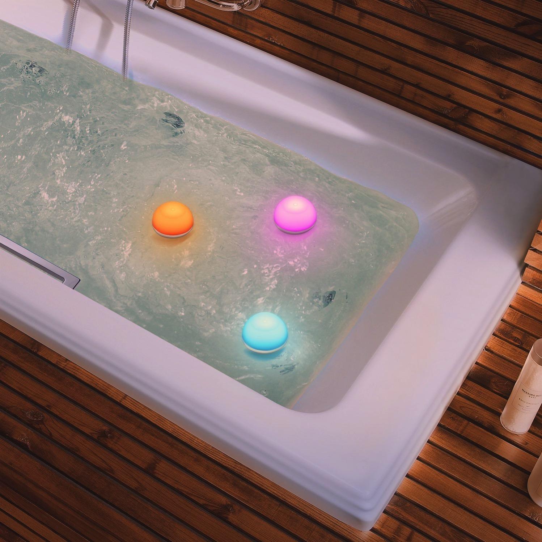 お風呂 照明 カラフル