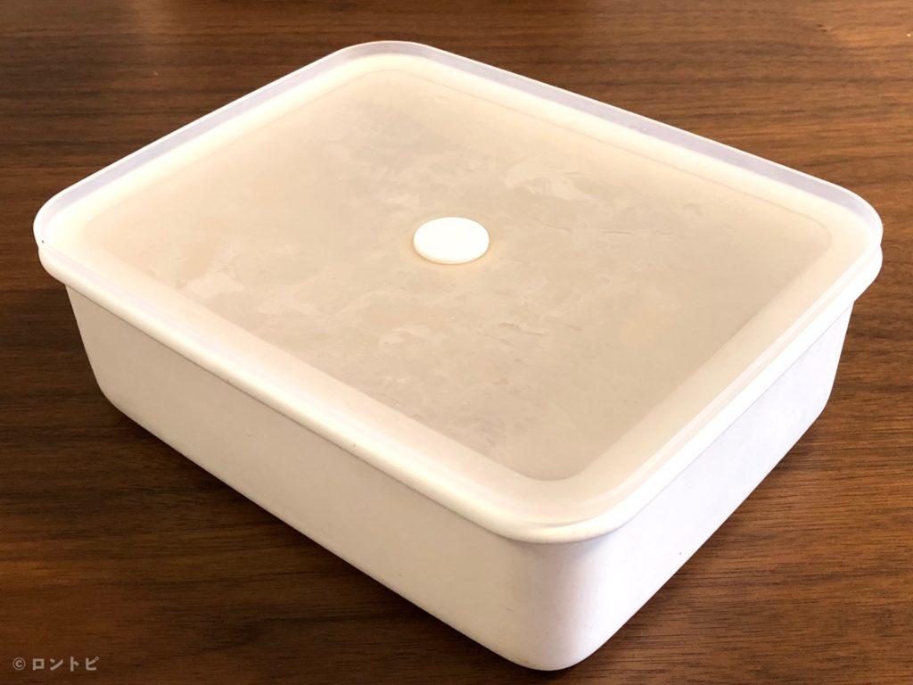 液体とニオイが漏れない バルブ付き密閉ホーロー保存容器