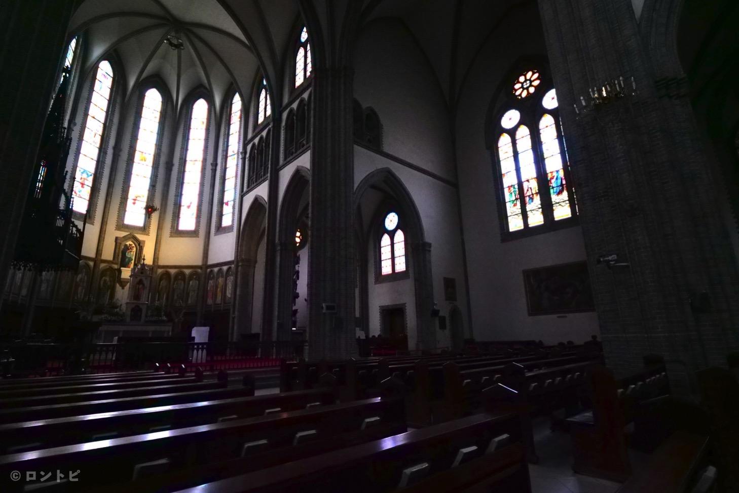 明洞聖堂 ステンドグラス