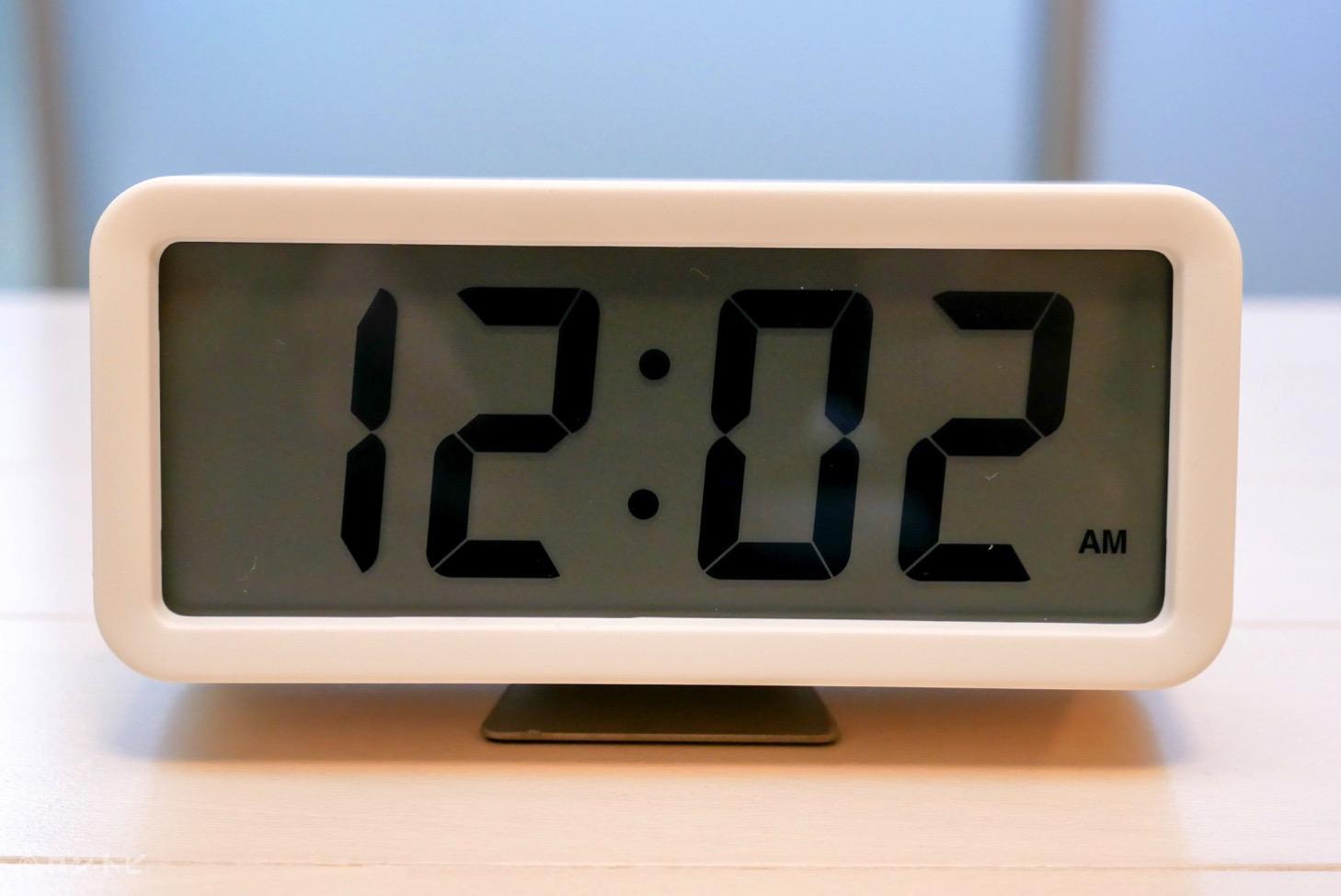 無印良品 デジタル時計 使い方