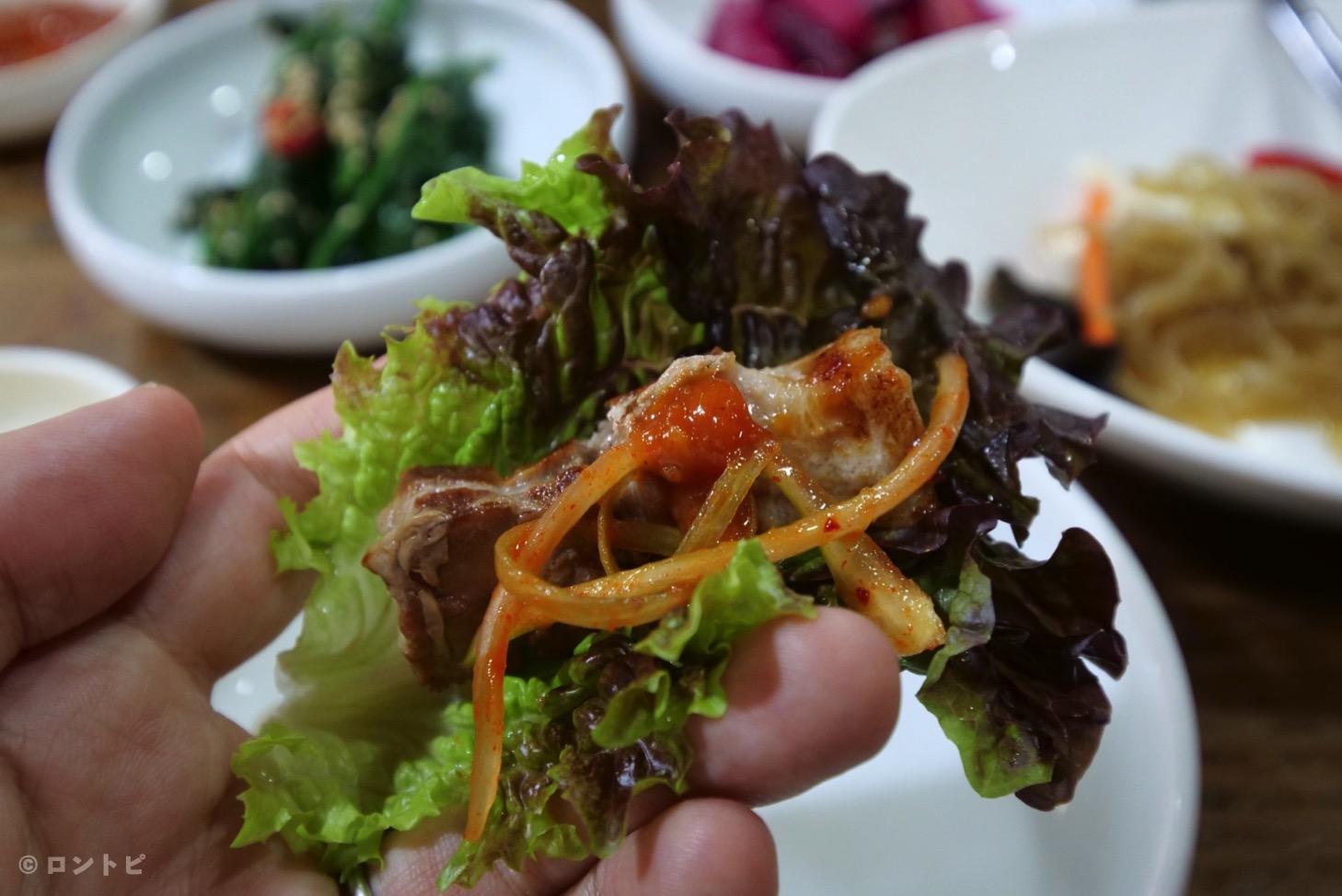 サムギョプサル  食べ方