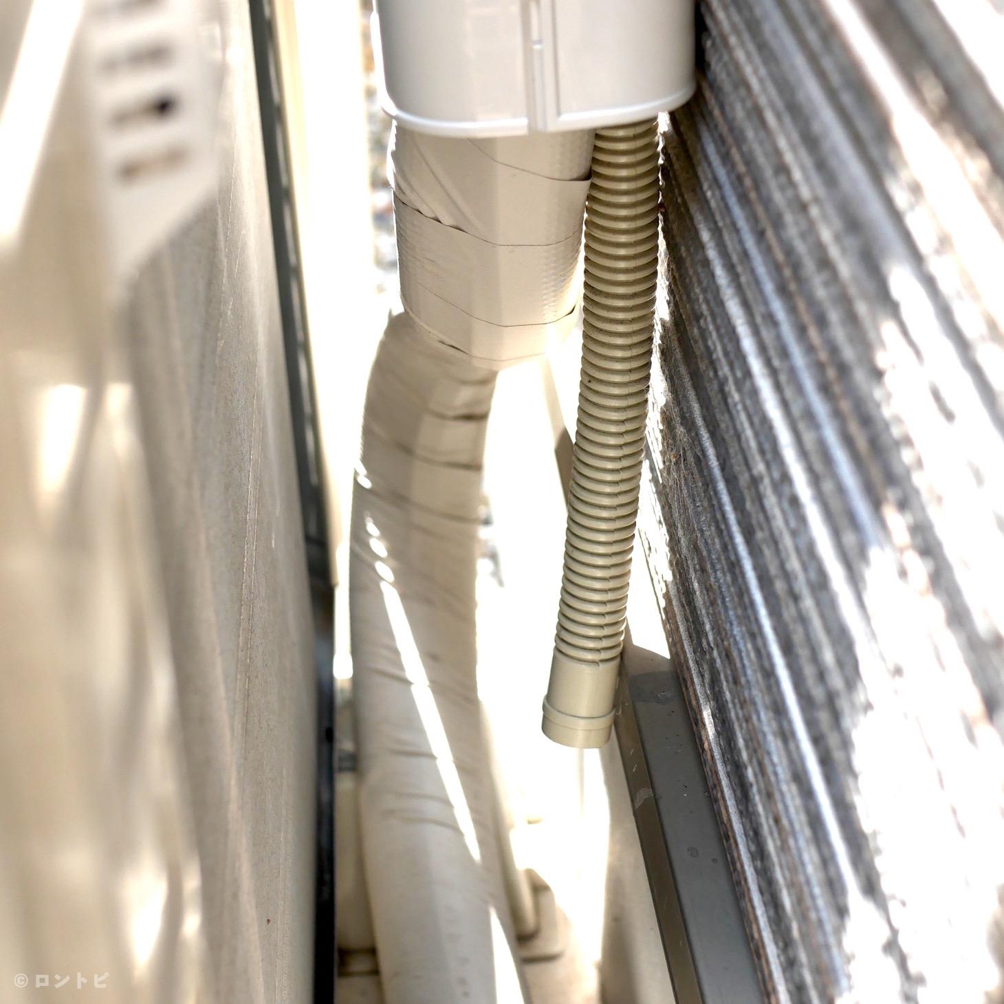 エアコン 室外機 ホース ゴキブリ