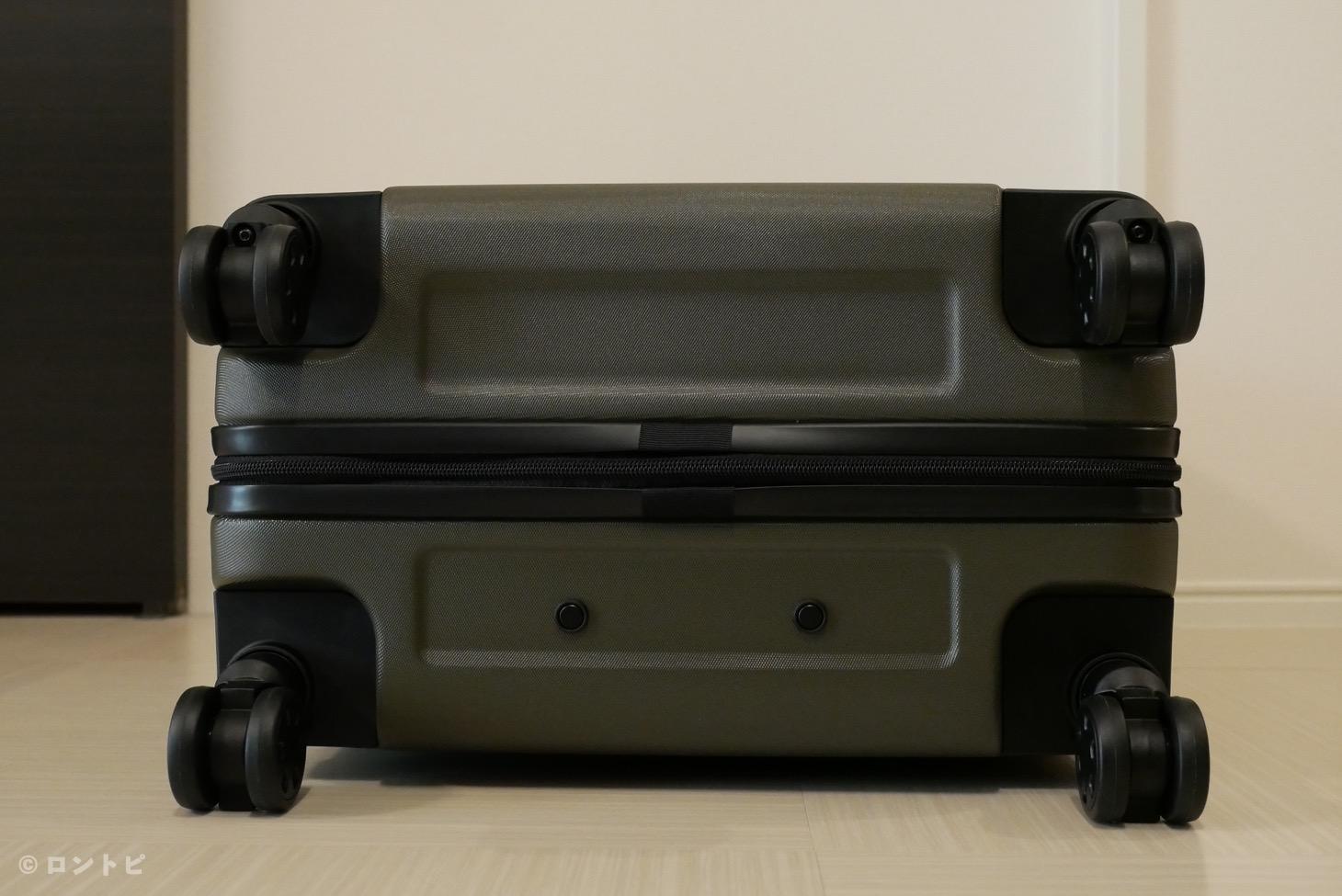 無印 スーツケース 車輪